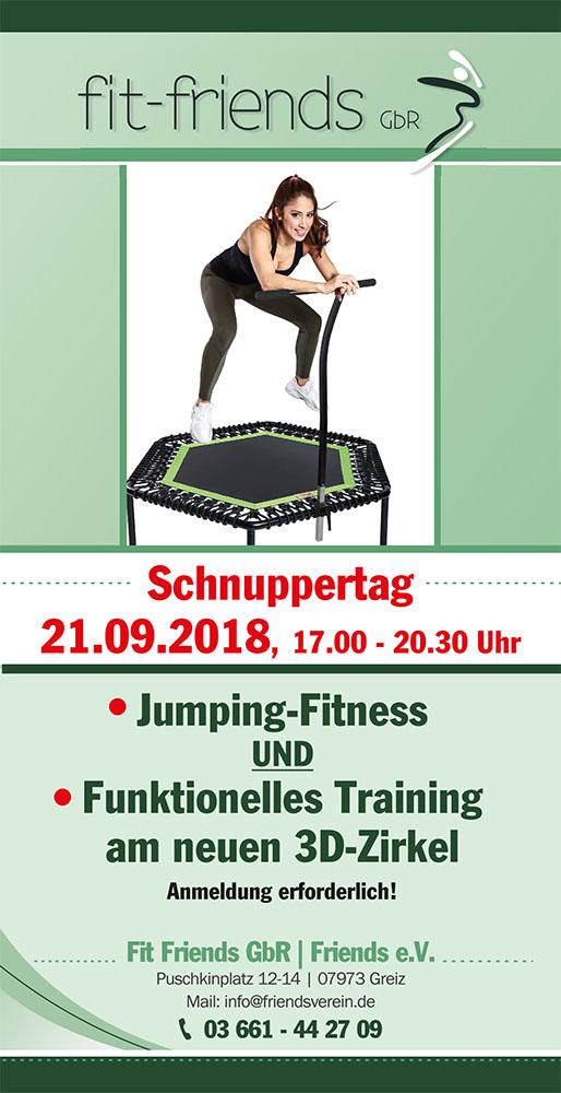 Flyer Fitness Jumping – Schnuppertag