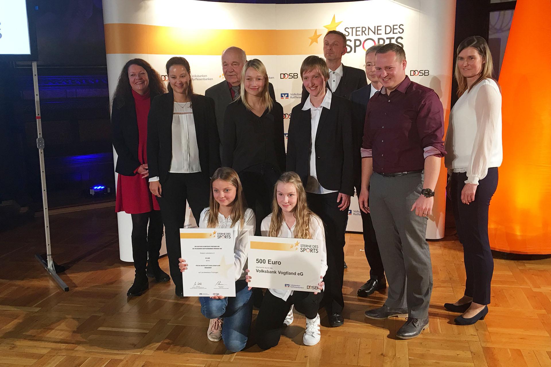 Greizer Judoclub: Silberner Stern des Sports in Thüringen verliehen