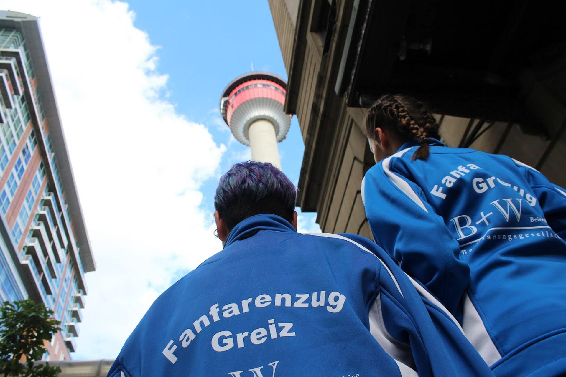 Der Fanfarenzug Greiz in Calgary: der zweite Tag
