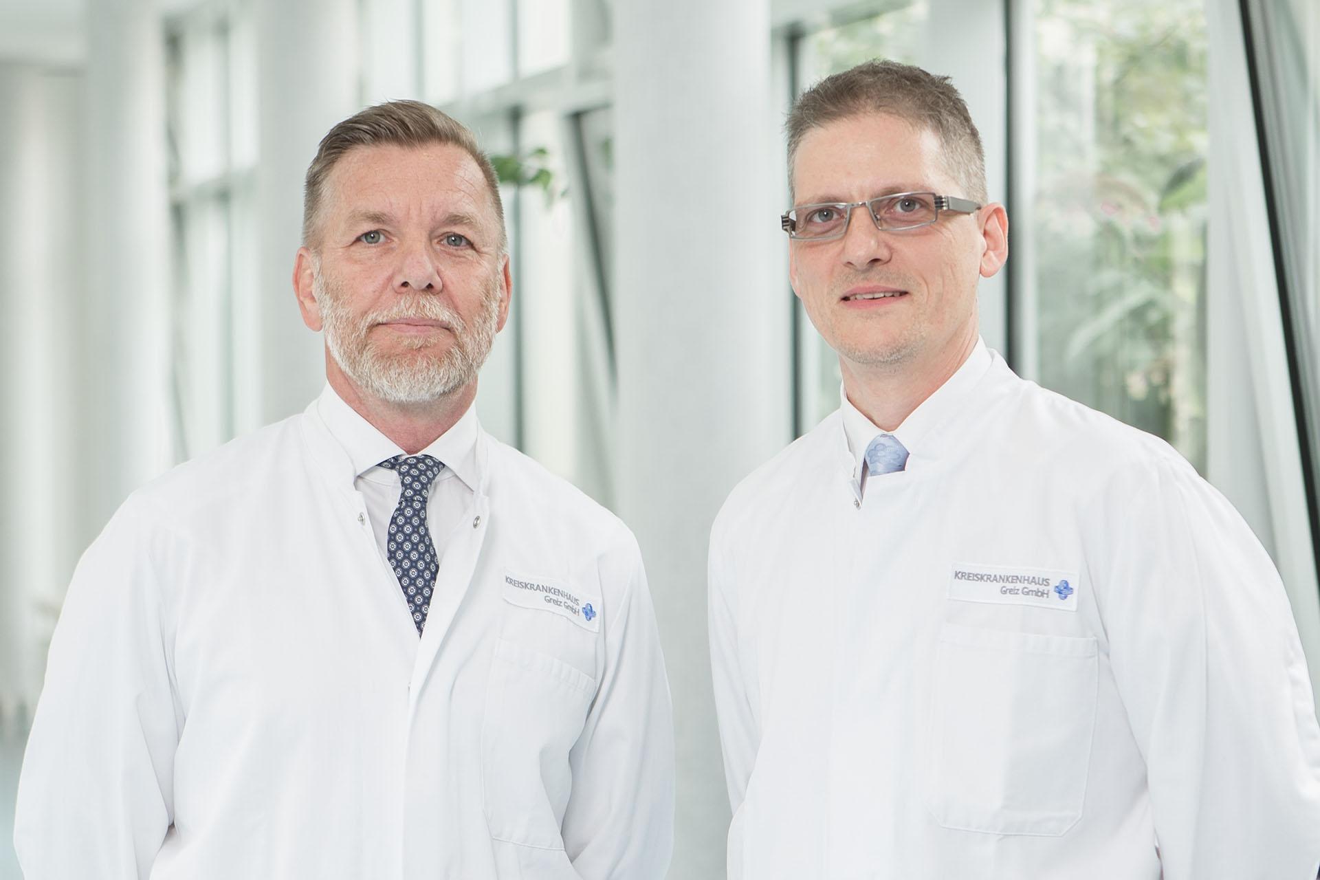 Chefärzte Dr. Steffen Volkert (l.) und Mike Philipp