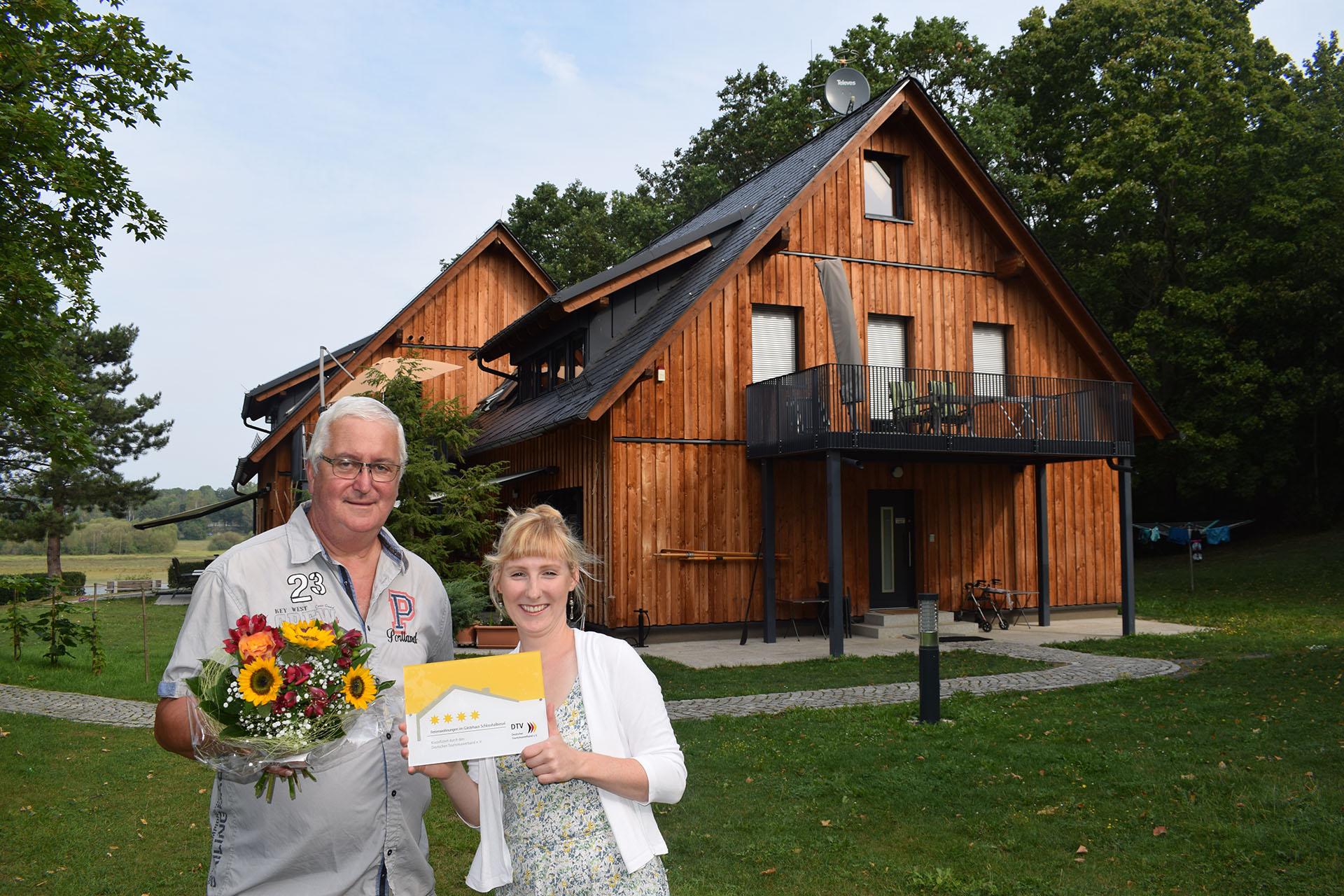 Vier Sterne für Gästehaus Schlosshalbinsel