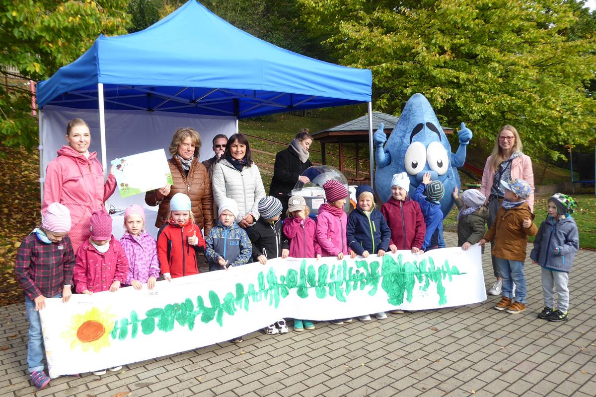 """Am 07. Oktober feierten die kleinen Naturforscher der Schulanfängergruppe im Greizer Kindergarten """"Freundschaft"""" ausgelassen ihren Triumpf."""