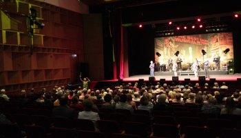 """Zahlreiche Gäste erlebten am Freitagabend in der Vogtlandhalle Greiz eine mitreißende Aufführung der """"Musical night in concert""""."""