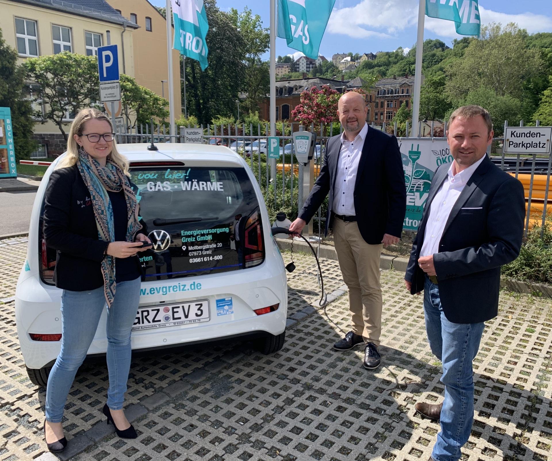 Stadt Greiz ab sofort mit modernem e-up unterwegs