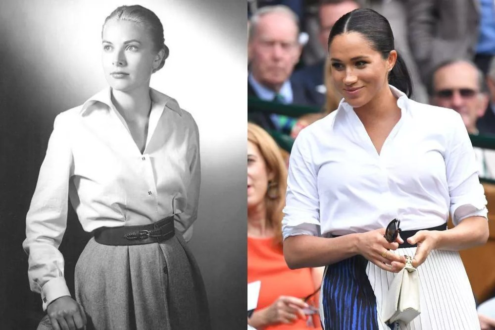 Grace Kelly (1952) and Meghan Markle (2019)
