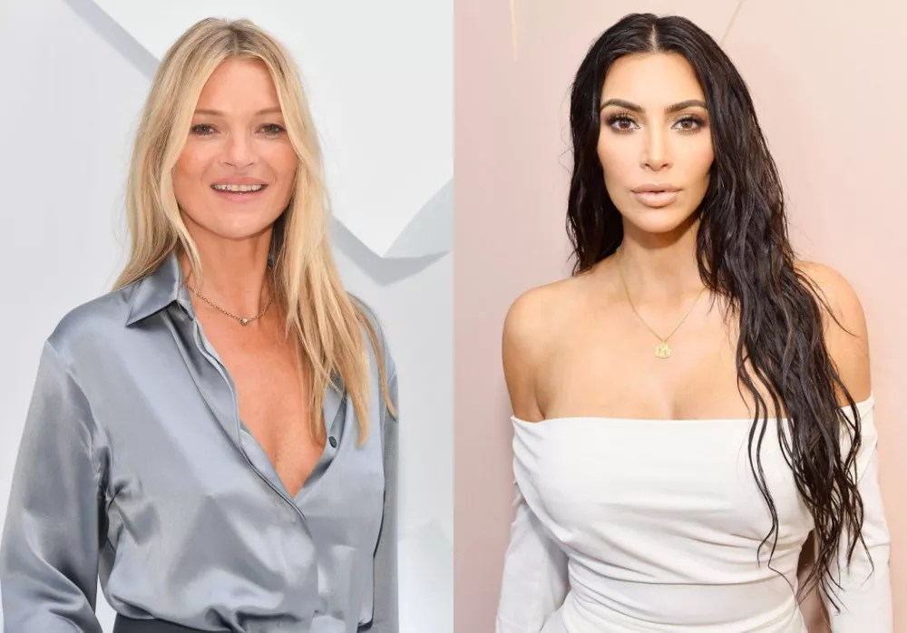 Kate Moss and Kim Kardashian West (Photo: Getty Images)