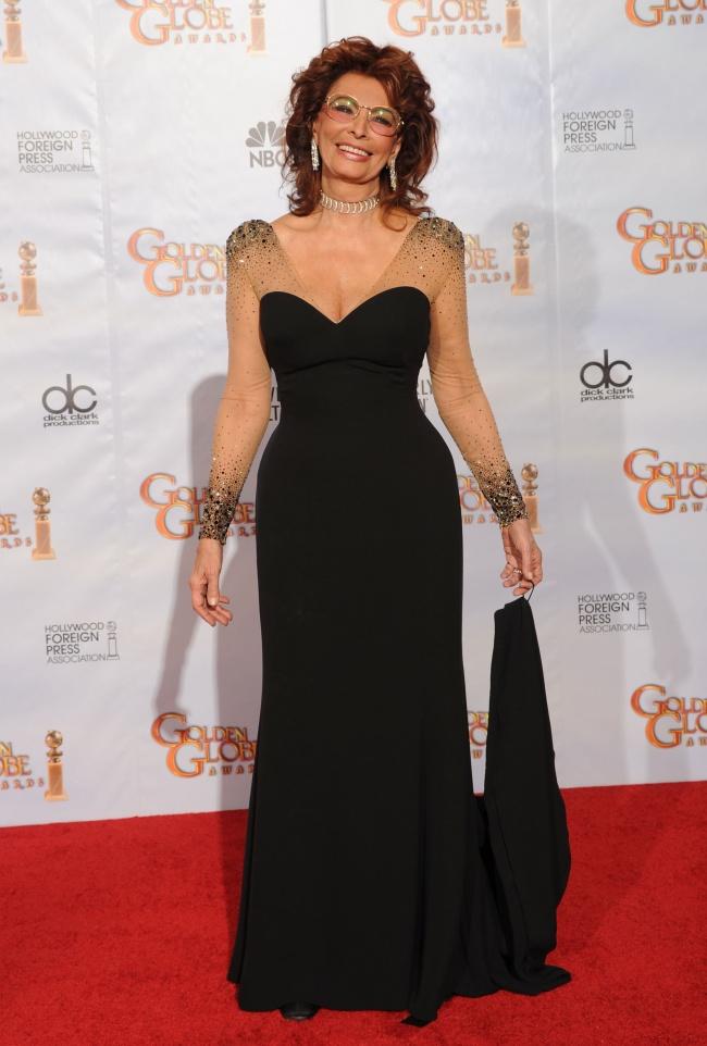 Софи Лорен на церемонии Золотой глобус