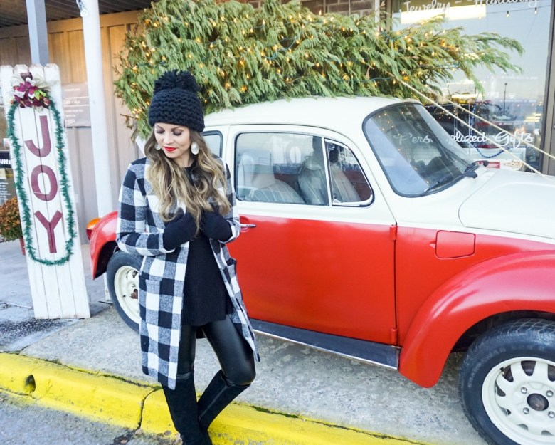 buffalo plaid black white shein