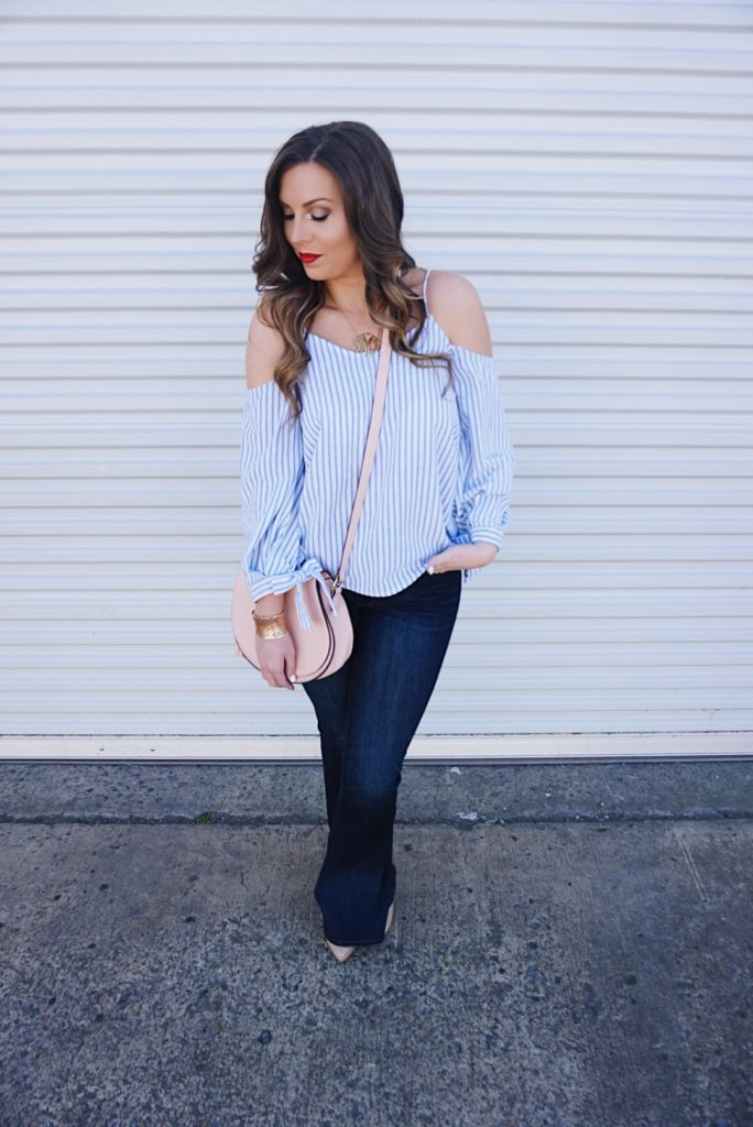 blue-striped-off-the-shoulder-top