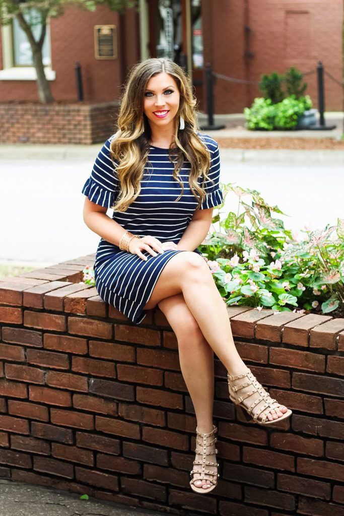 navy-and-white-striped-dress