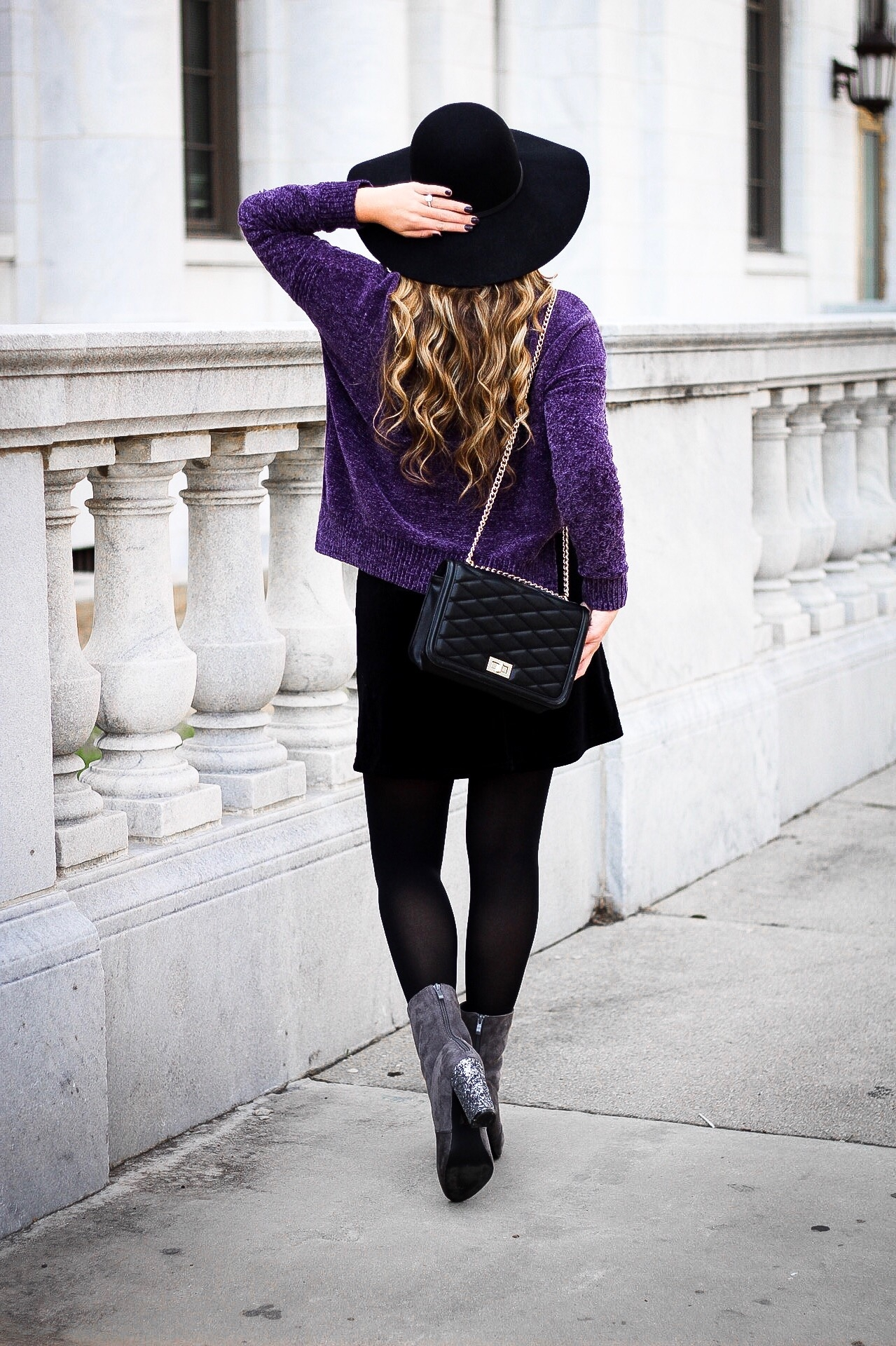 Chenille Sweater Outfit For Winter Vogue For Breakfast