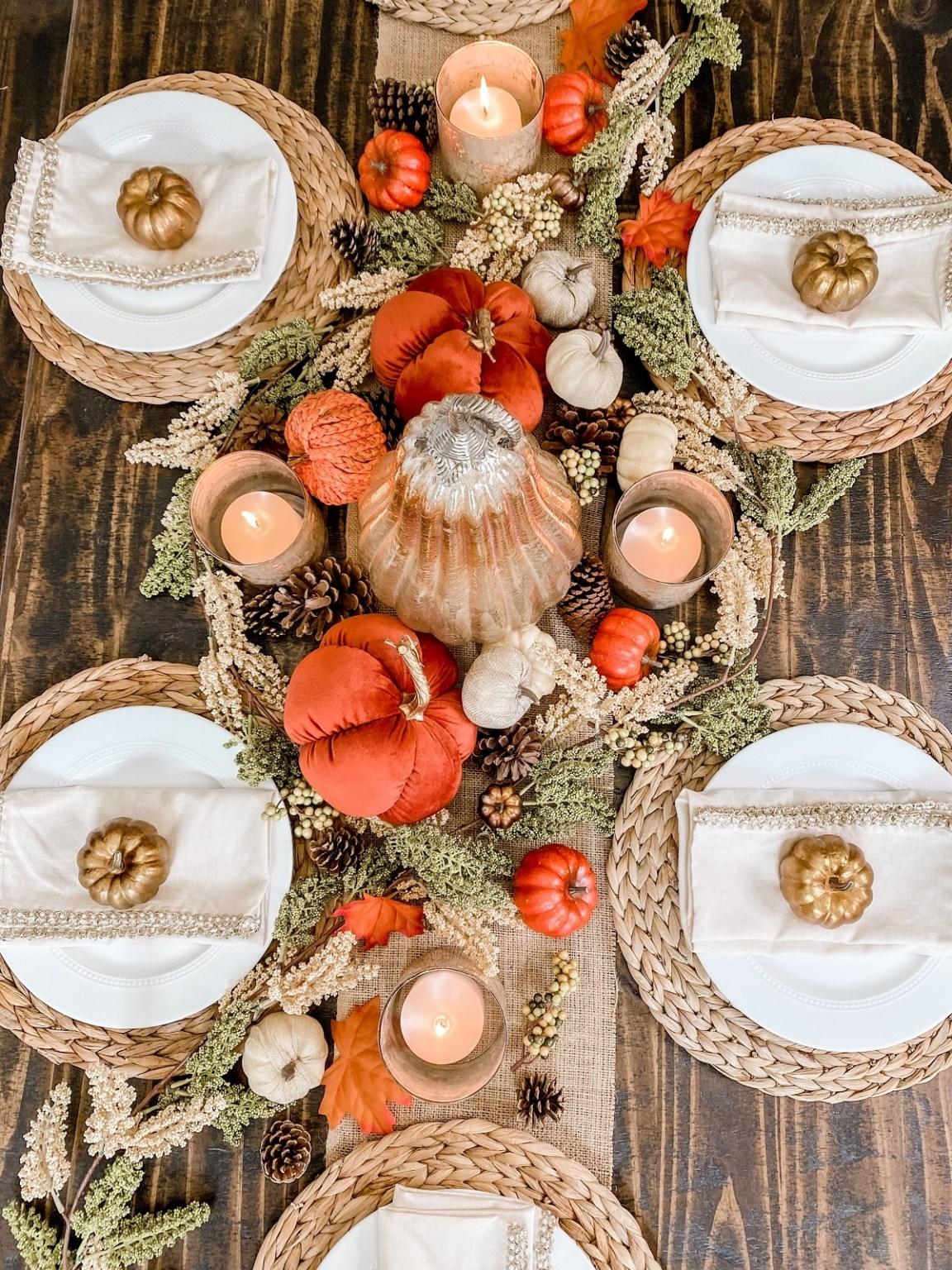 fall tablescape garland décor