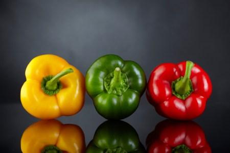 Paprika gelb-grün-rot