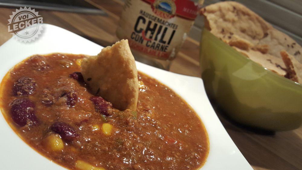 Chili con Carne mit Schüttelbrot