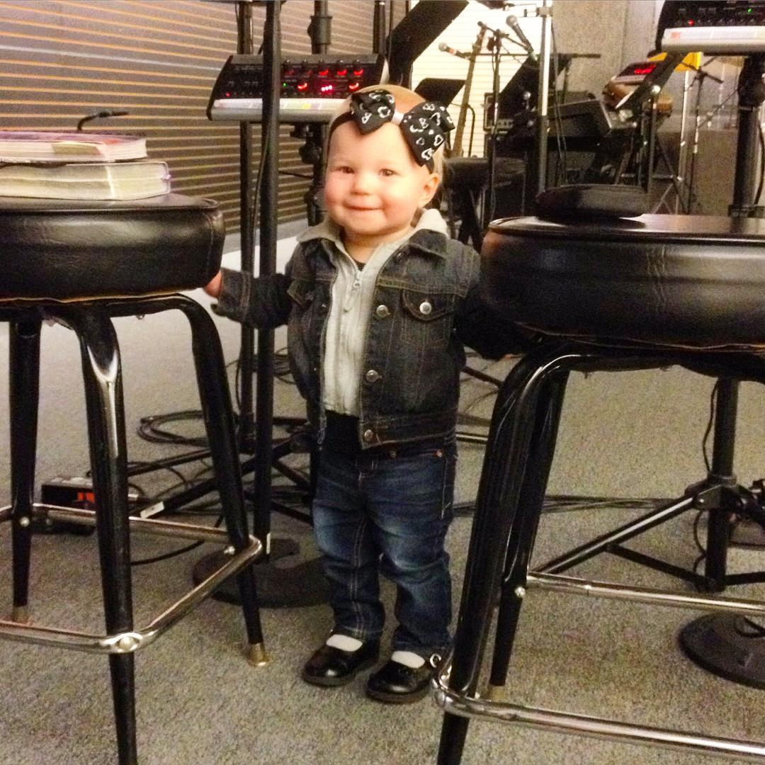Meet Hiero, the newest singer at IHOPM. Looks like she is ready to be on the stage! Her parents Eric and Felicia are on the Wednesday night team. #voiceministries #ihopmichiana