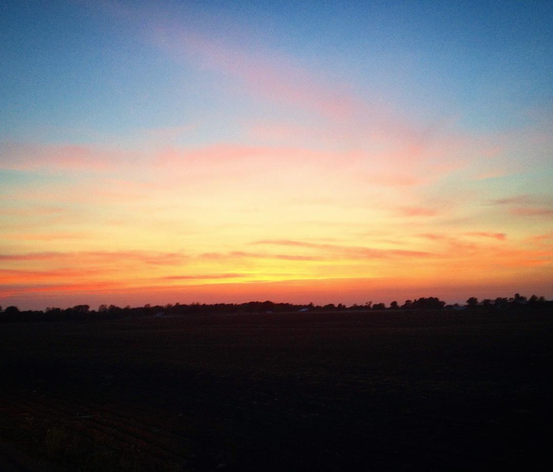Driving home tonight after #ihopmichiana #indianasunset #elkhartcounty #sunset