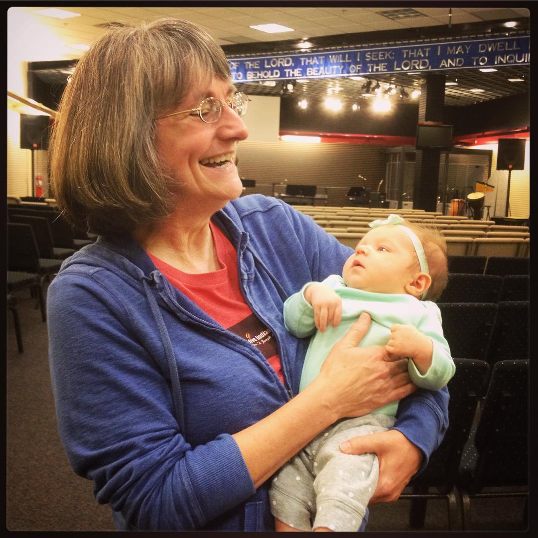SueAnna with another new recruit for the House of Prayer 😄🙏 #ihopmichiana #voiceministries @fswanson1