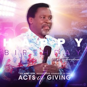 Happy Birthday Prophet TB Joshua 56th Birthday