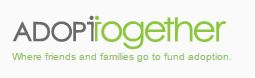 Black and green logo with the sloga, Where friends and families go to fund adoption.