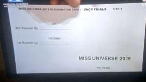 Iindex card shows first and second runner up in small print to the left and at the bottom far right, the winner's name