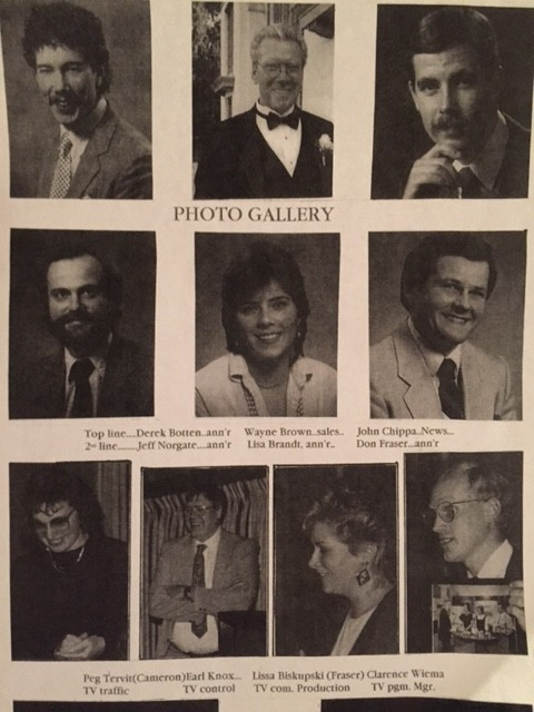 A page from a book of photos, like a yearbook. of staff at Blackburn Wingham. Both Derek and I are in it. I'm about 26 year old. Derek is in his early 30s.