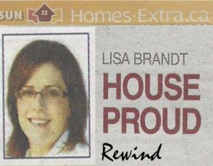 Original House Proud byline with the title and my photo with the word rewind added in script