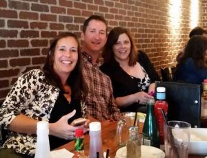 Becky Malacaria, Scott Kitching and Me at Jack Astor's for my going away party