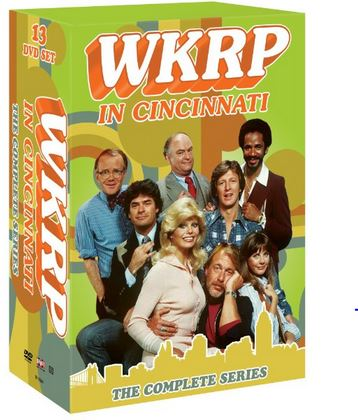 cover of the WKRP box set featuring the entire cast of the show