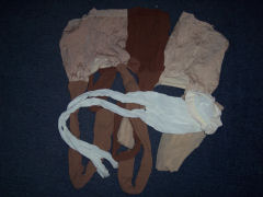 pile of different coloured pantyhose