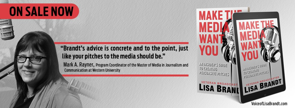 banner ad for my book including a complimentary quote from the head of Western University's journalism and PR program