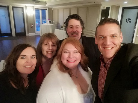 Ken taking a selfie of he and his wife, Loreena the bride and me and Derek
