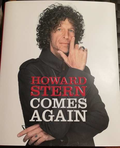 Howard Stern Comes Again book cover features the author in a serious pose, looking directly at the camera