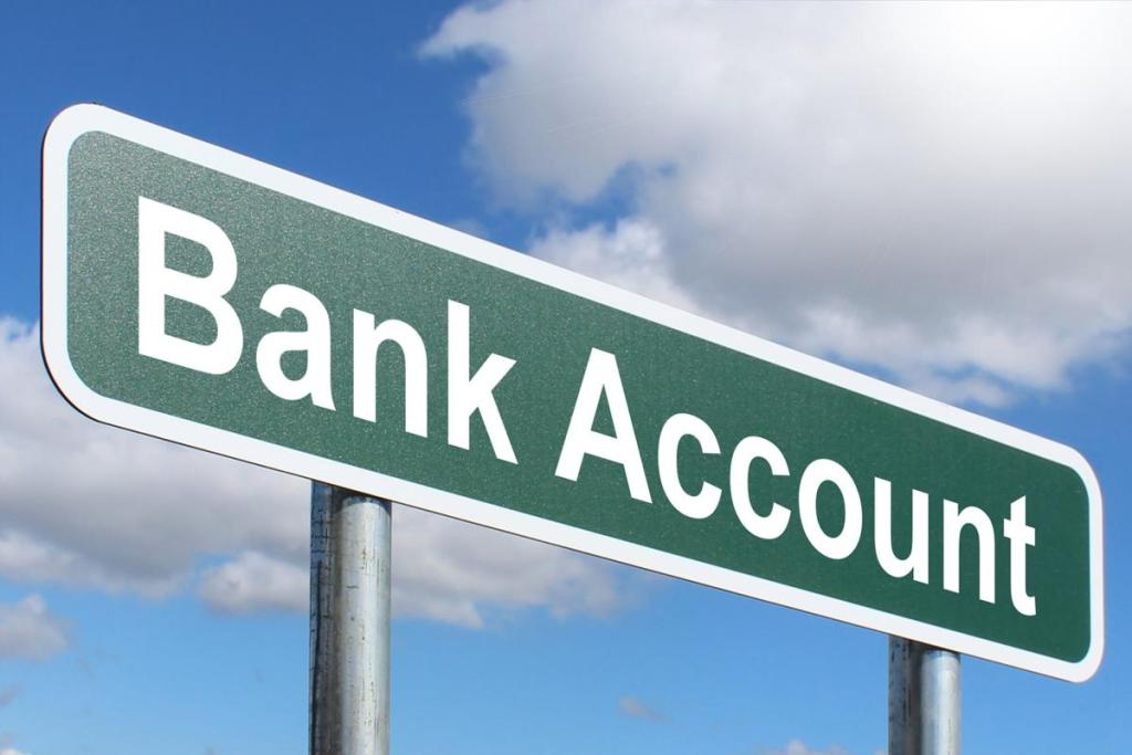 highway sign reads Bank Account