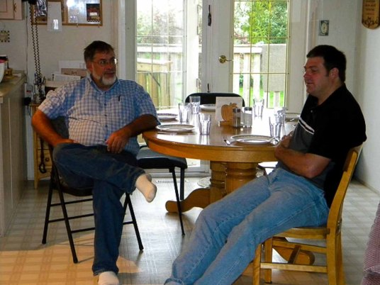 John Heatwole and Glen chat before breakfast