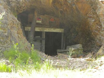 We even found an old mine entrance