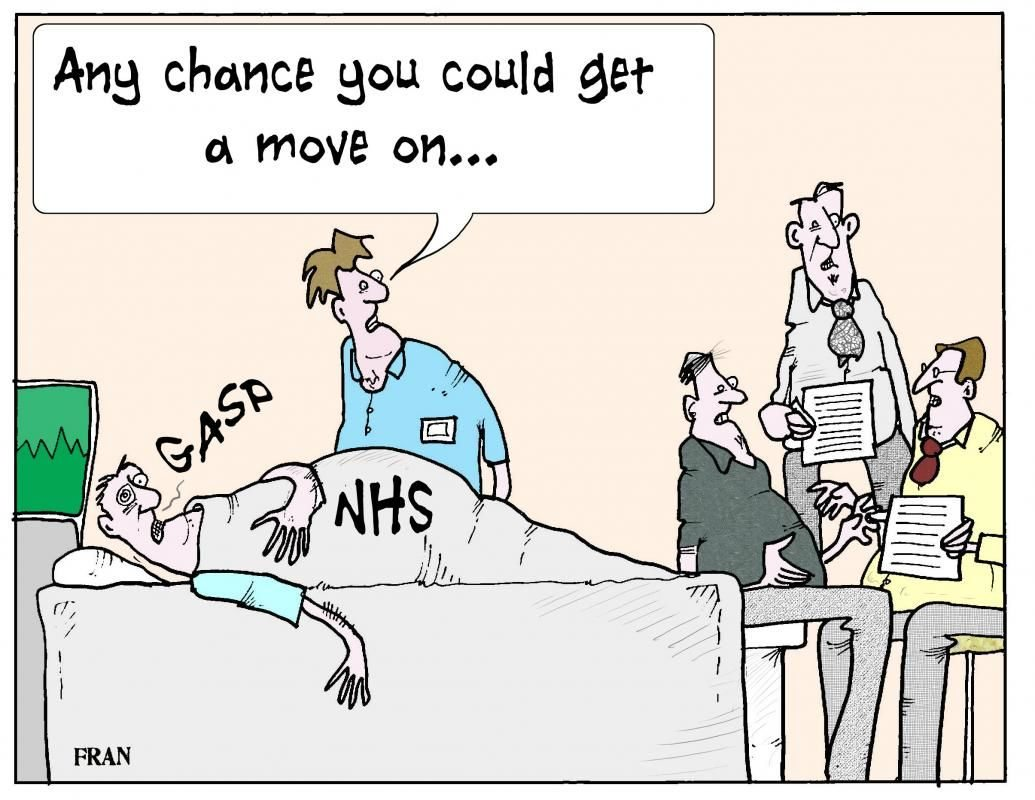Image result for nhs explosion cartoon