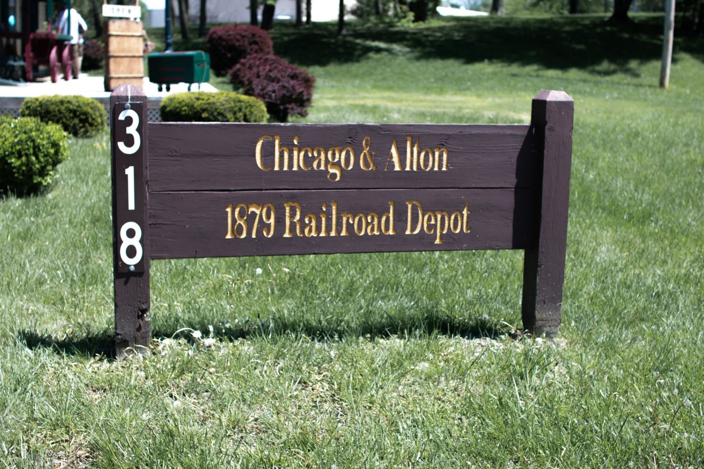 Chicago Alton railroad depot in Independence Missouri