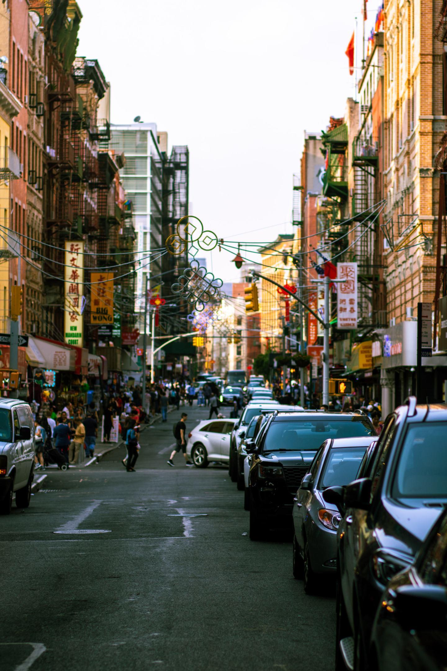 street view of Chinatown in Manhattan