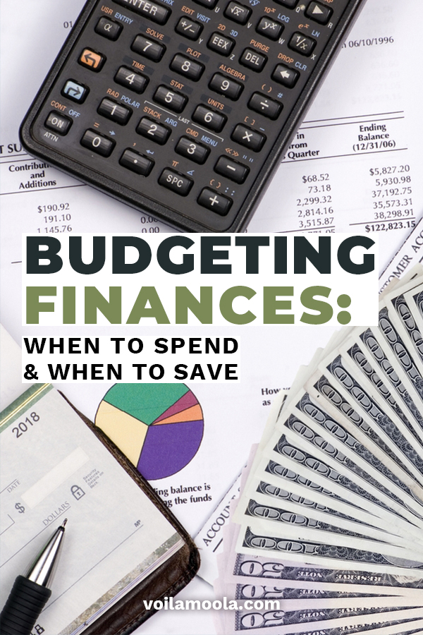 Do you know the budgeting finances two most important questions? When to spend and when to save