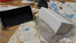 demoulage piece composite
