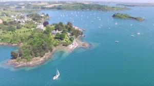 Navigation en Rance et prise de vue en drone