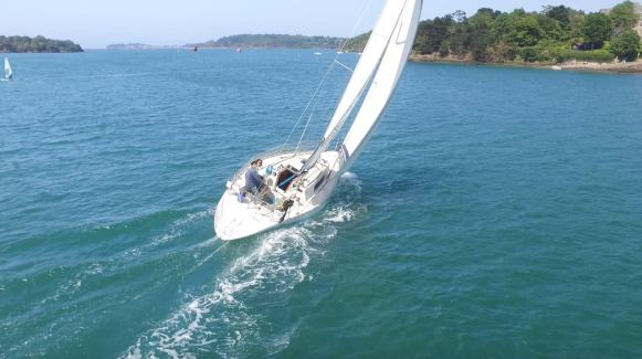 first 32, beneteau, voilier, First32, Tomiak, drone, Rance