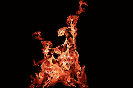 A swarm of living flames.