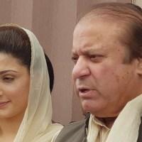 Maryam Nawaz with her father
