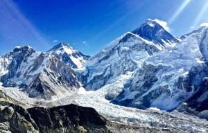 Mt. Everest and Khumbu Ice Fall seen from Kala Patthar