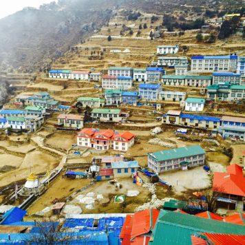 View of Namche Bazaar, Himalayas, Nepal