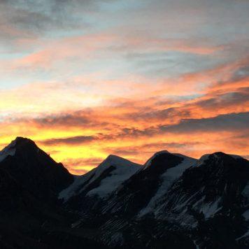 Sunset over Annapurna Range, Nepal