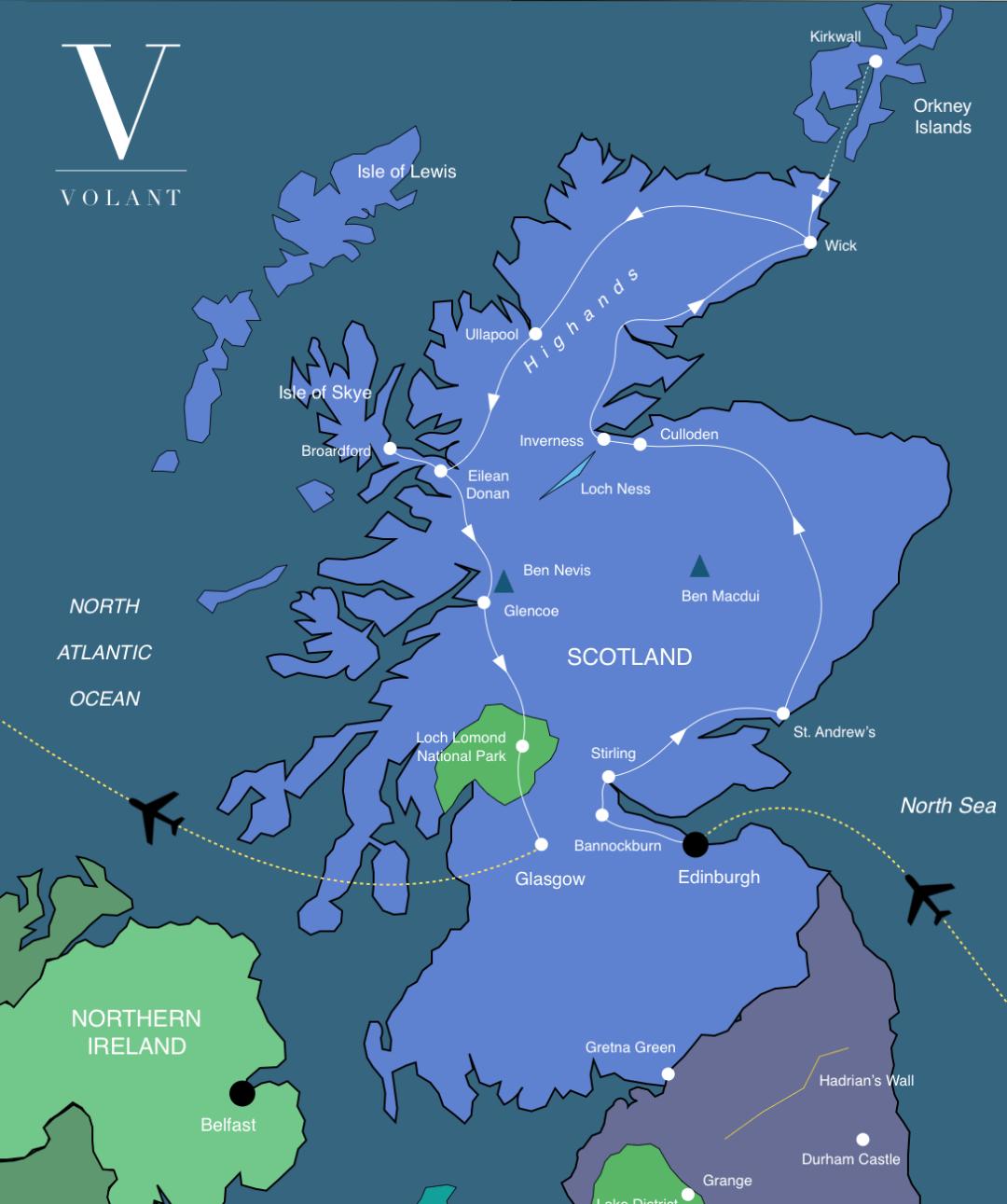 Best of Scotland Tour Map | Volant