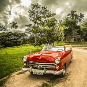 Vintage Car, Forest, Cuba