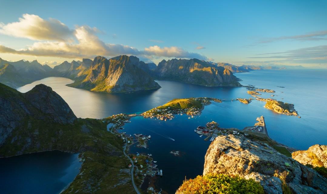 Lofoten Islands, Norway at Sunset